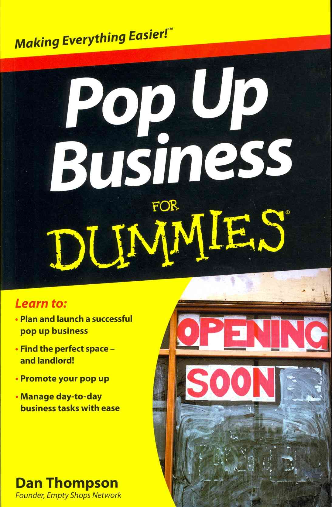 Pop-up Business for Dummies By Dummies Press Family (COR)